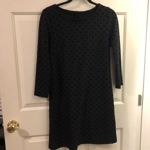 Dresses & Skirts - Custom made black dress w/ black velvet polka dots
